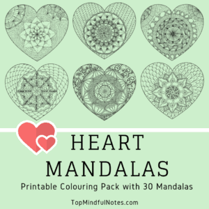 Heart Mandalas from Top Mindful Notes