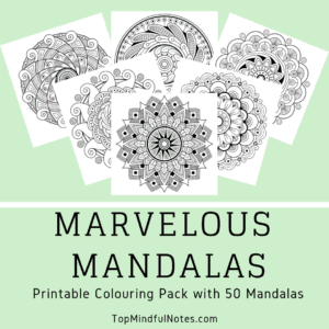 Marvelous Mandalas from TopMindfulNotes.com