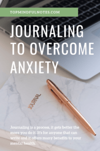 Journaling to Overcome Anxiety Pin